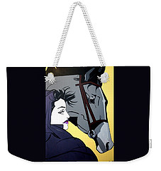 Weekender Tote Bag featuring the painting 2 Beauties by Nora Shepley