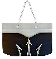 2005 Maserati Mc12 Hood Emblem Weekender Tote Bag by Jill Reger