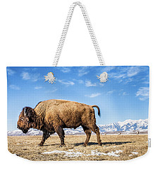 A Bison In The 24,700-acre National Elk Weekender Tote Bag