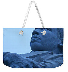 Weekender Tote Bag featuring the photograph A Blue Martin Luther King - 1 by Cora Wandel