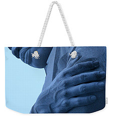 Weekender Tote Bag featuring the photograph A Blue Martin Luther King - 2 by Cora Wandel