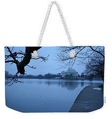 Weekender Tote Bag featuring the photograph A Blue Morning For Jefferson by Cora Wandel