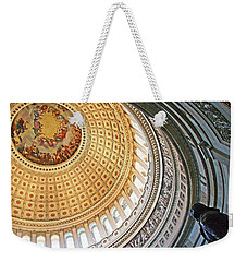 Weekender Tote Bag featuring the photograph A Capitol Rotunda by Cora Wandel