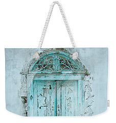 Weekender Tote Bag featuring the photograph Abandoned Doorway by Donna Corless