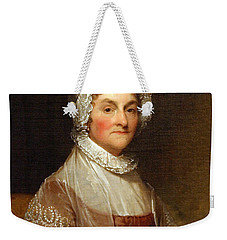 Weekender Tote Bag featuring the photograph Abigail Smith Adams By Gilbert Stuart by Cora Wandel