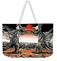 Abiogenic Memetics  Weekender Tote Bag by Ryan Demaree