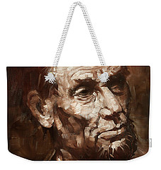 Abraham Lincoln Weekender Tote Bag by Ylli Haruni
