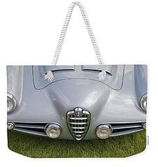 Weekender Tote Bag featuring the photograph Alfa Romeo 1900 Ss Zagato Berlinetta 1956 by Maj Seda