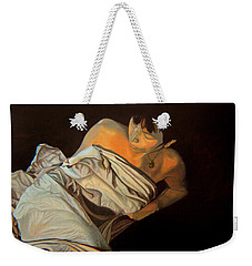 Weekender Tote Bag featuring the painting 1 Am by Thu Nguyen