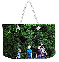 Amish Boys Weekender Tote Bag