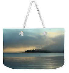An Island In Fog Weekender Tote Bag