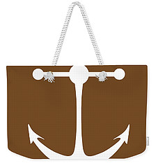 Anchor In Brown And White Weekender Tote Bag