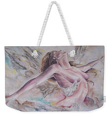 Weekender Tote Bag featuring the pastel Angel Burst by Peter Suhocke