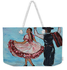 Argentinian Folk Dance Weekender Tote Bag by Xueling Zou