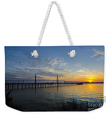 Sunset Over The Charleston Waters Weekender Tote Bag by Dale Powell