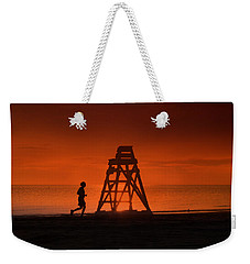 At The Beach In The Morning Weekender Tote Bag