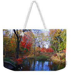 Autumn By The Creek Weekender Tote Bag by Dora Sofia Caputo Photographic Art and Design