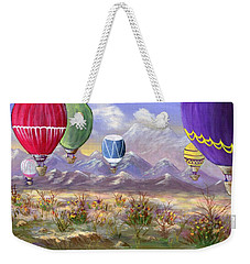 Weekender Tote Bag featuring the painting Balloons by Jamie Frier