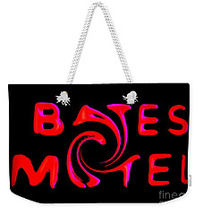 Weekender Tote Bag featuring the photograph Bates Motel In Blood And Twisted by Kelly Awad