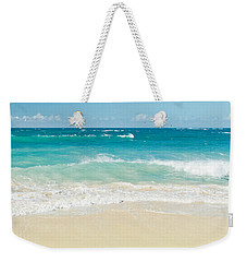 Weekender Tote Bag featuring the photograph Beach Love by Sharon Mau