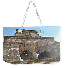 Weekender Tote Bag featuring the photograph Bell Tower 1584 by George Katechis