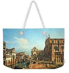 Bellotto's The Campo Di Ss. Giovanni E Paolo In Venice Weekender Tote Bag by Cora Wandel