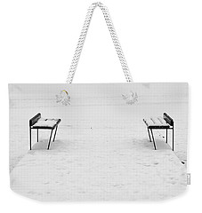 Benches On A Dock Weekender Tote Bag