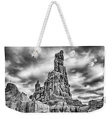 Weekender Tote Bag featuring the photograph Big Thunder Mountain Railroad by Howard Salmon