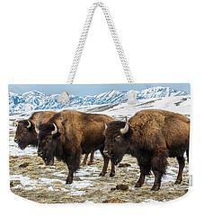 Bison In The 24,700-acre National Elk Weekender Tote Bag