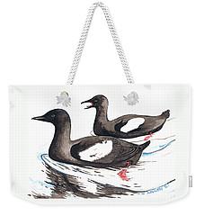 Black Guillemot Weekender Tote Bag