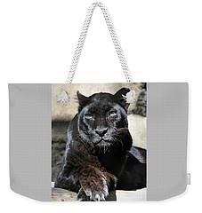 Black Leopard Weekender Tote Bag by Savannah Gibbs