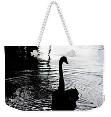Black Swan Weekender Tote Bag by Roselynne Broussard