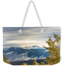 Weekender Tote Bag featuring the photograph Blacktooth by Michael Chatt