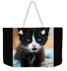Black And White Kitten Weekender Tote Bag