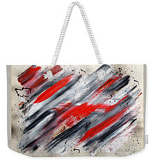 Weekender Tote Bag featuring the painting Blitzkrieg by Roberto Prusso