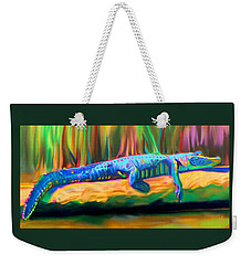 Blue Alligator Weekender Tote Bag
