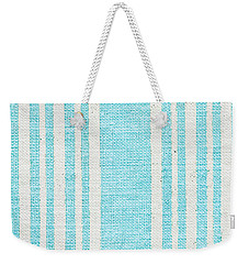 Blue Fabric Weekender Tote Bag