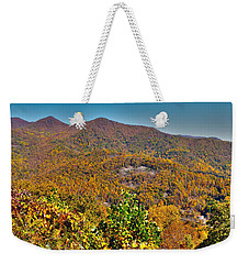 Weekender Tote Bag featuring the photograph Blue Ridge Parkway by Alex Grichenko
