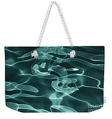 Blue Swirl Two Weekender Tote Bag