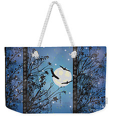 Blue Winter Weekender Tote Bag by Kim Prowse