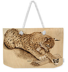 Bobcat And Friend Weekender Tote Bag by Ron Haist