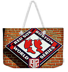 Boston Red Sox 1912 World Champions Weekender Tote Bag by Stephen Stookey