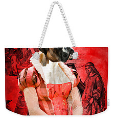Boxer Art Canvas Print Weekender Tote Bag