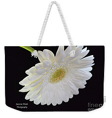 Weekender Tote Bag featuring the photograph Bright White Gerber Daisy # 2 by Jeannie Rhode