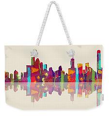 Brisbane Australia Skyline Weekender Tote Bag