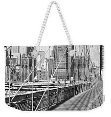 Brooklyn Bridge Manhattan New York City Weekender Tote Bag by Panoramic Images