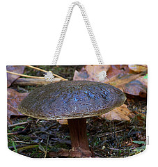 Weekender Tote Bag featuring the photograph Brown Toadstool by Chalet Roome-Rigdon