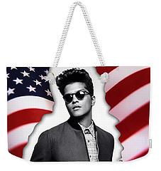 Bruno Mars Weekender Tote Bag by Marvin Blaine