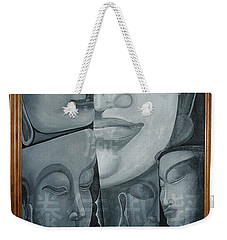Buddish Facial Reactions Weekender Tote Bag by Fei A