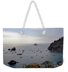 Weekender Tote Bag featuring the photograph Busy Harbor by Sharon Elliott